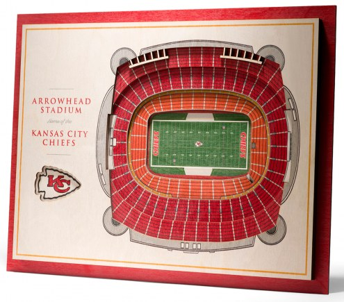 Kansas City Chiefs 5-Layer StadiumViews 3D Wall Art