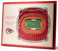 Kansas City Chiefs 5-Layer StadiumViews 3D Wall Art