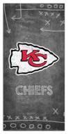 "Kansas City Chiefs 6"" x 12"" Chalk Playbook Sign"