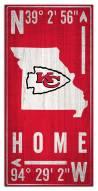 "Kansas City Chiefs 6"" x 12"" Coordinates Sign"
