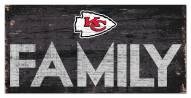 "Kansas City Chiefs 6"" x 12"" Family Sign"