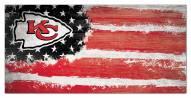 "Kansas City Chiefs 6"" x 12"" Flag Sign"