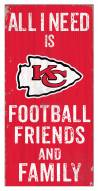 "Kansas City Chiefs 6"" x 12"" Friends & Family Sign"