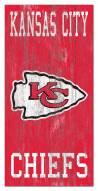 "Kansas City Chiefs 6"" x 12"" Heritage Logo Sign"