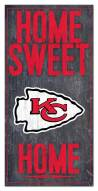 "Kansas City Chiefs 6"" x 12"" Home Sweet Home Sign"