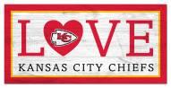 "Kansas City Chiefs 6"" x 12"" Love Sign"