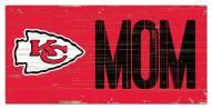 """Kansas City Chiefs 6"""" x 12"""" Mom Sign"""
