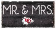 "Kansas City Chiefs 6"" x 12"" Mr. & Mrs. Sign"