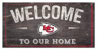"Kansas City Chiefs 6"" x 12"" Welcome Sign"