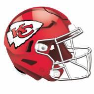 Kansas City Chiefs Authentic Helmet Cutout Sign
