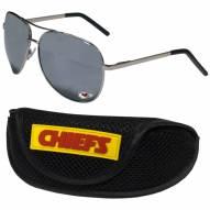 Kansas City Chiefs Aviator Sunglasses and Sports Case