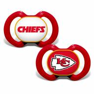 Kansas City Chiefs Baby Pacifier 2-Pack