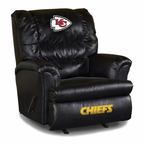 Kansas City Chiefs Big Daddy Leather Recliner