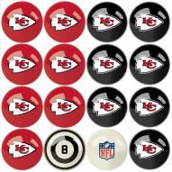 Kansas City Chiefs Billiard Balls