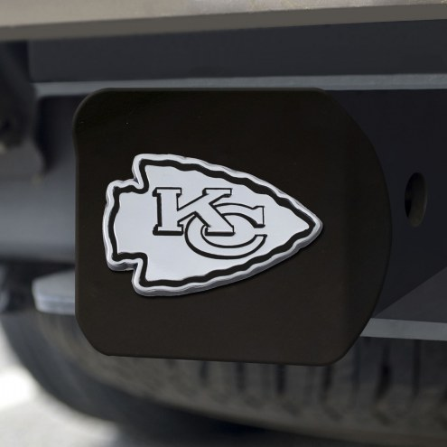 Kansas City Chiefs Black Matte Hitch Cover