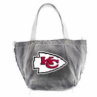 Kansas City Chiefs Black NFL Vintage Tote Bag