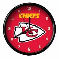 Kansas City Chiefs Black Rim Clock