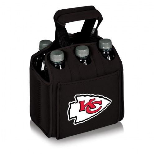 Kansas City Chiefs Black Six Pack Cooler Tote