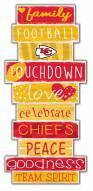 Kansas City Chiefs Celebrations Stack Sign