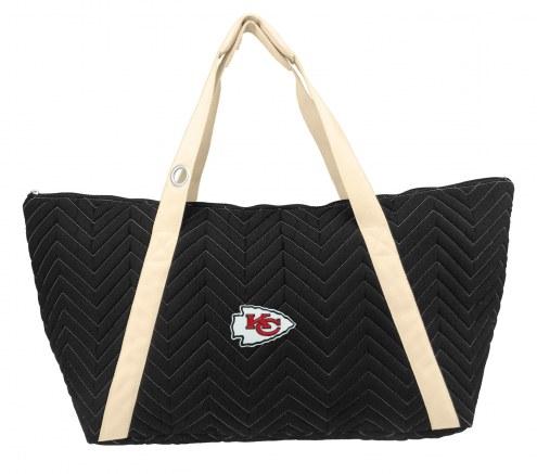 Kansas City Chiefs Chevron Stitch Weekender Bag