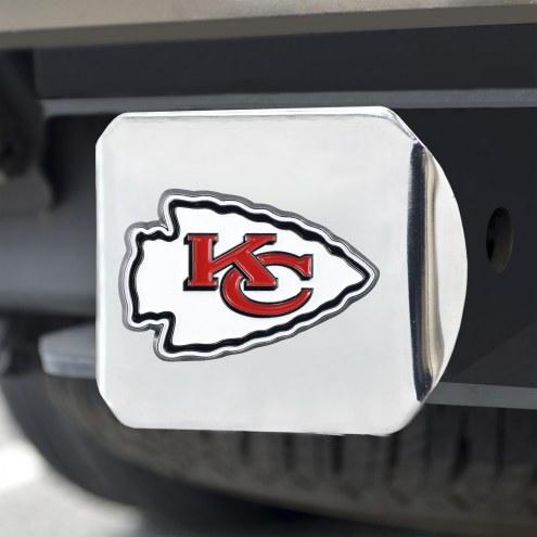 Kansas City Chiefs Chrome Color Hitch Cover