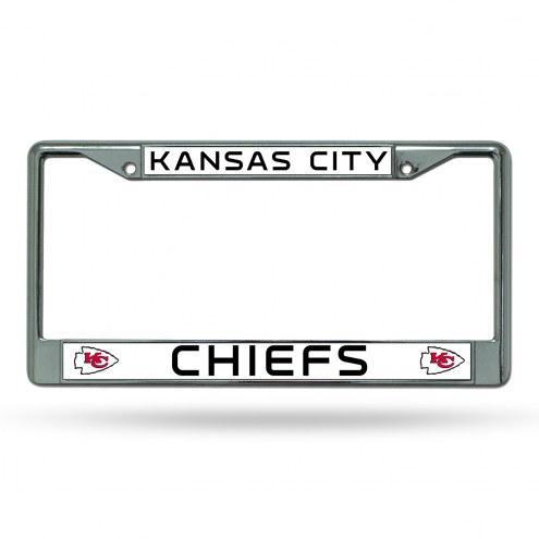 Kansas City Chiefs Chrome License Plate Frame