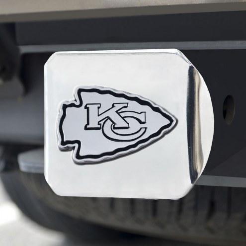 Kansas City Chiefs Chrome Metal Hitch Cover