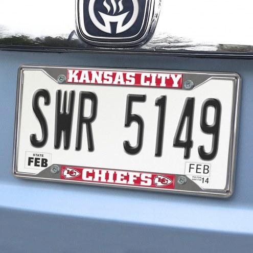Kansas City Chiefs Chrome Metal License Plate Frame