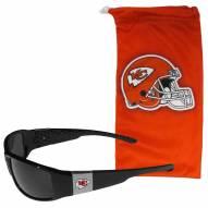 Kansas City Chiefs Chrome Wrap Sunglasses & Bag