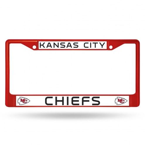 Kansas City Chiefs Color Metal License Plate Frame