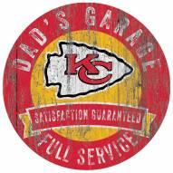 Kansas City Chiefs Dad's Garage Sign