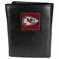 Kansas City Chiefs Deluxe Leather Tri-fold Wallet in Gift Box