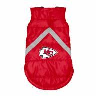 Kansas City Chiefs Dog Puffer Vest