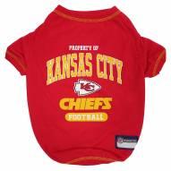 Kansas City Chiefs Dog Tee Shirt