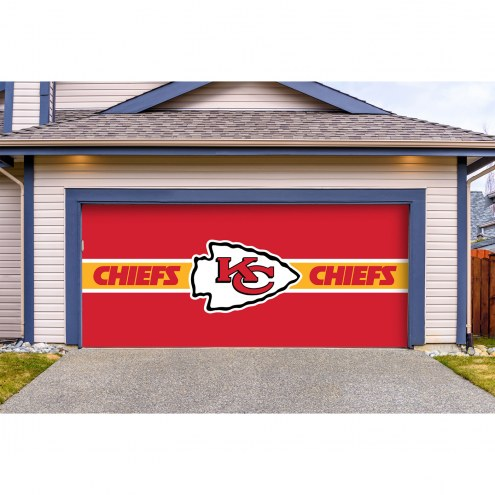 Kansas City Chiefs Double Garage Door Cover