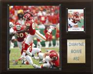 "Kansas City Chiefs Dwayne Bowe 12 x 15"" Player Plaque"