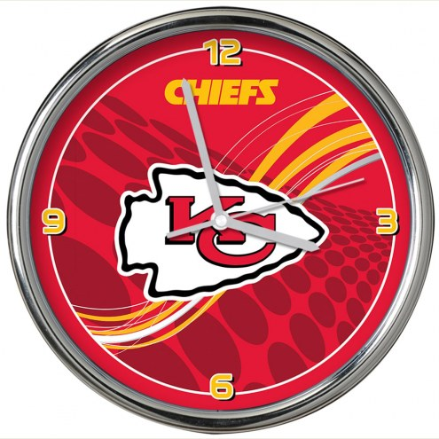 Kansas City Chiefs Dynamic Chrome Clock