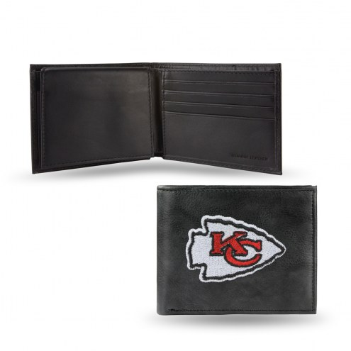 Kansas City Chiefs Embroidered Leather Billfold Wallet