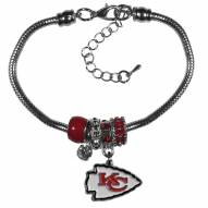 Kansas City Chiefs Euro Bead Bracelet