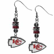 Kansas City Chiefs Euro Bead Earrings