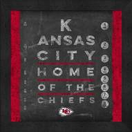 Kansas City Chiefs Eye Chart