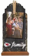 Kansas City Chiefs Family Tabletop Clothespin Picture Holder