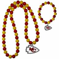 Kansas City Chiefs Fan Bead Necklace & Bracelet Set