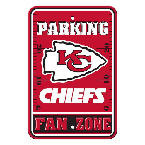 Kansas City Chiefs Fan Zone Parking Sign