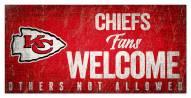 Kansas City Chiefs Fans Welcome Sign