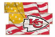 Kansas City Chiefs Flag 3 Plank Sign
