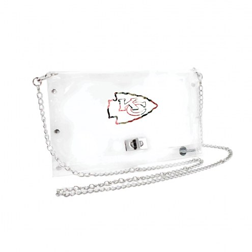 Kansas City Chiefs Floral Clear Envelope Purse