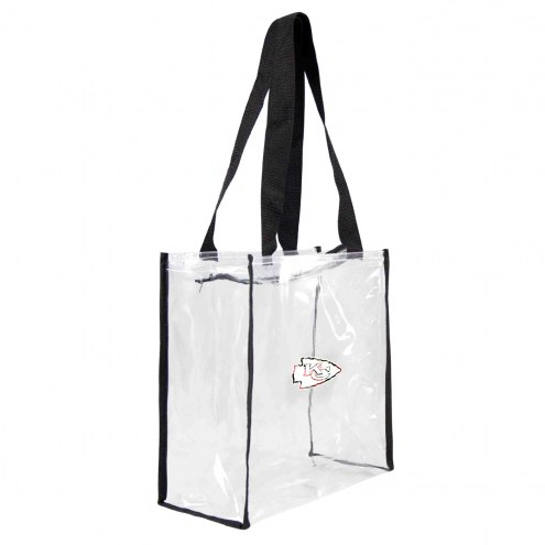 Kansas City Chiefs Floral Clear Square Stadium Tote