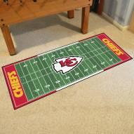 Kansas City Chiefs Football Field Runner Rug