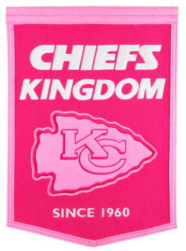 Kansas City Chiefs Football for Her Banner